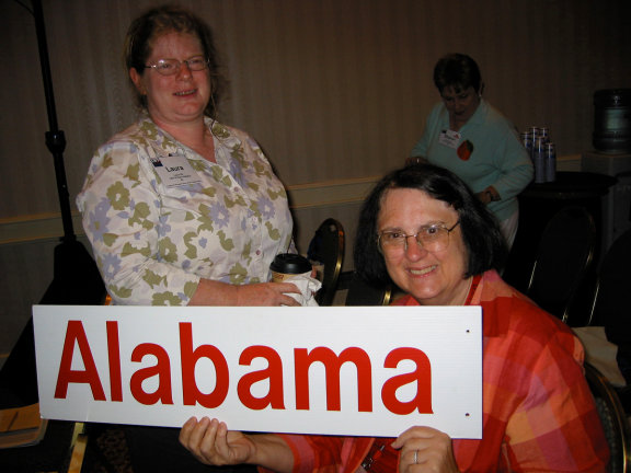 Laura Hill, East Alabama, and Kathy Byrd, Tuscaloosa, at LWVUS Convention