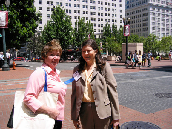 Sarah McDonald and Mary Lynn Bates in Portland