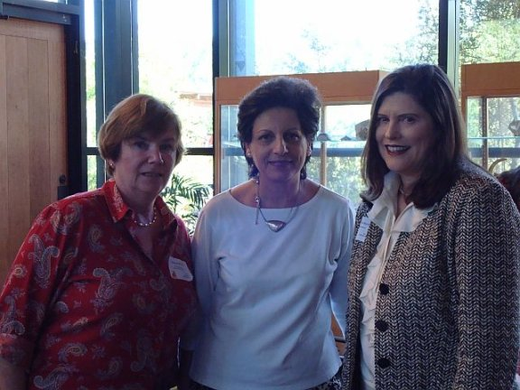 Sarah McDonald, Dr. Mona Fouad, Mary Lynn Bates at LWVAL Council 2008