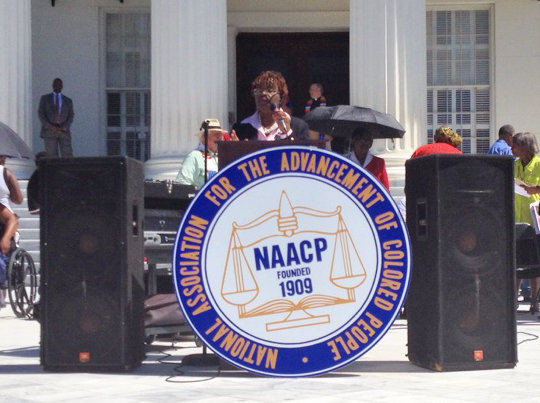 Ida Tyree-Hyche speaks out at Moral Monday Montgomery Sep. 22, 2014